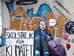 Murales a Cadibona: Rossella Bisazza dipinge di nuovo il volto a Greta Thunberg