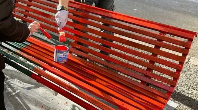 panchina rossa piazza adriatico