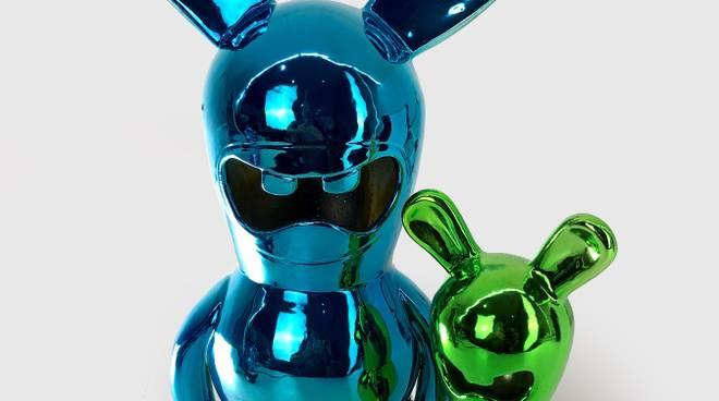 """Paolo Pastorino """"Osvaldo space color"""" ceramica e pigmenti in argento colorato"""