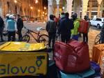 Protesta rider in piazza De Ferrari