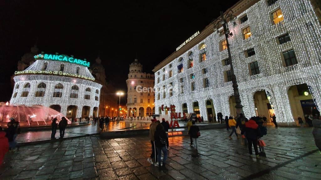 Accensione luci natalizie piazza De Ferrari