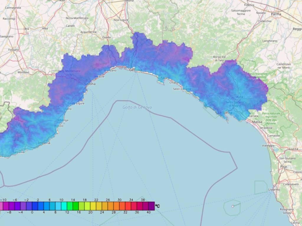 Cartina Politica Liguria Ponente.Allerta Gialla Per Neve Ancora Sino All 15 Nell Entroterra Del Ponente Registrate Temperature Molto Basse Nella Notte Genova 24