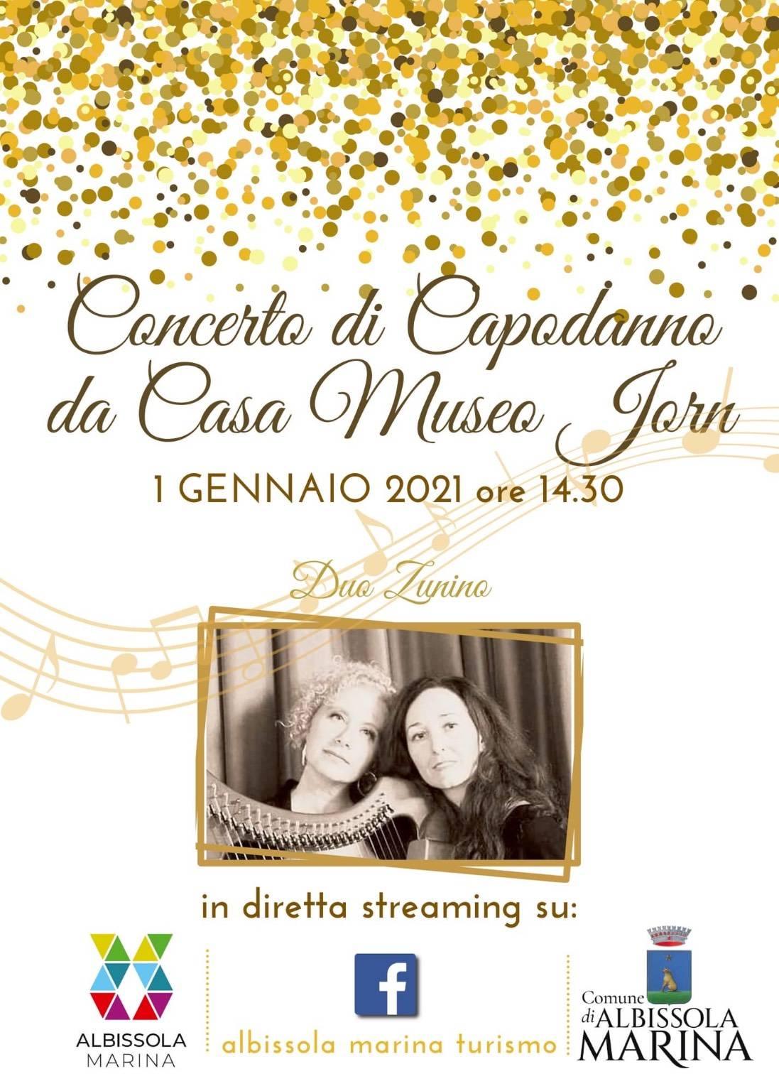 """Albissola Marina """"Concerto di Capodanno da Casa Museo Jorn"""" 2021"""