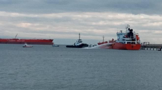 esercitazione antincendio porto Savona