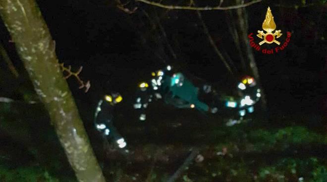 incidente borzonasca chiavari vigili del fuoco