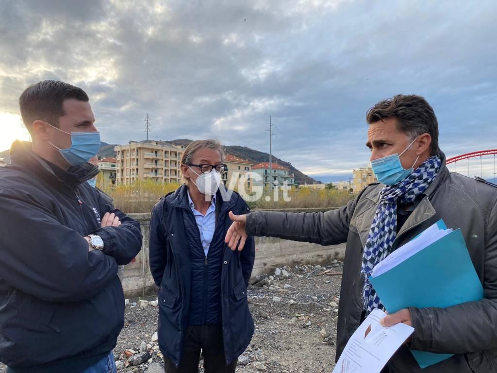 L'assessore Giampedrone ad Albenga