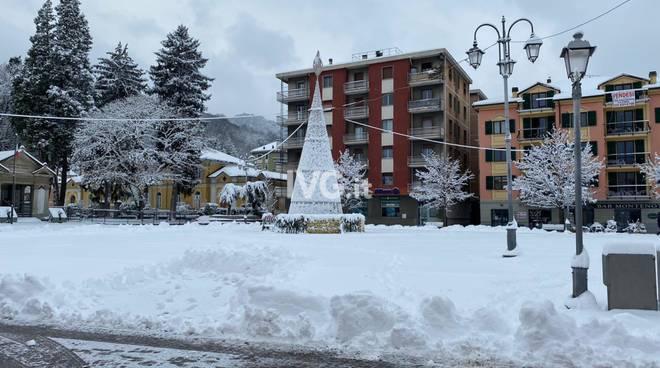 La neve a Cairo Montenotte