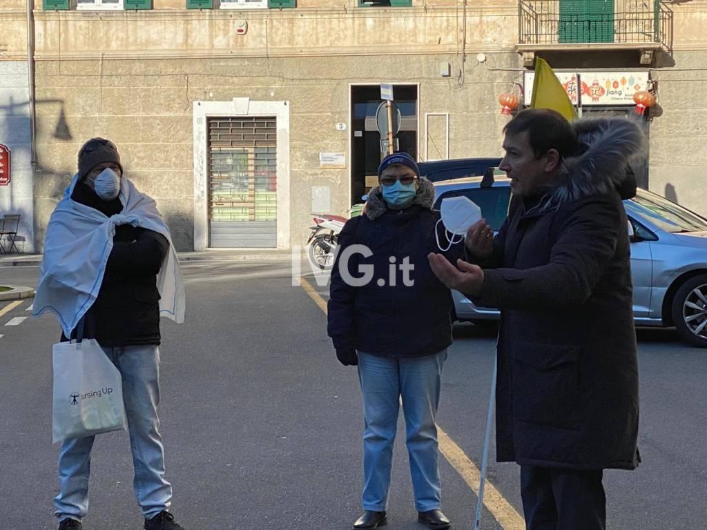 Manifestazione infermieri 3 dicembre Savona