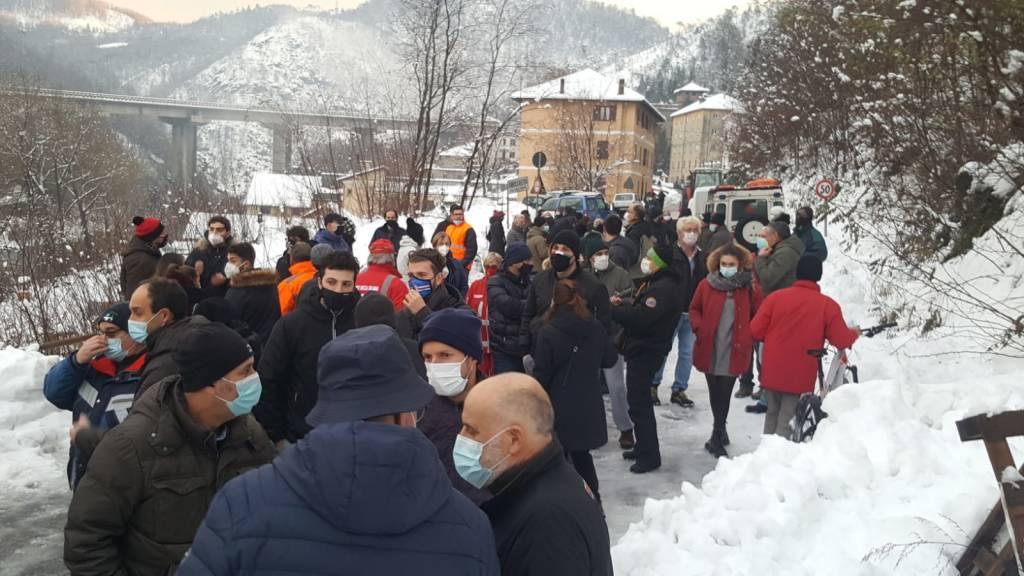 Protesta valle stura frana gnocchetto