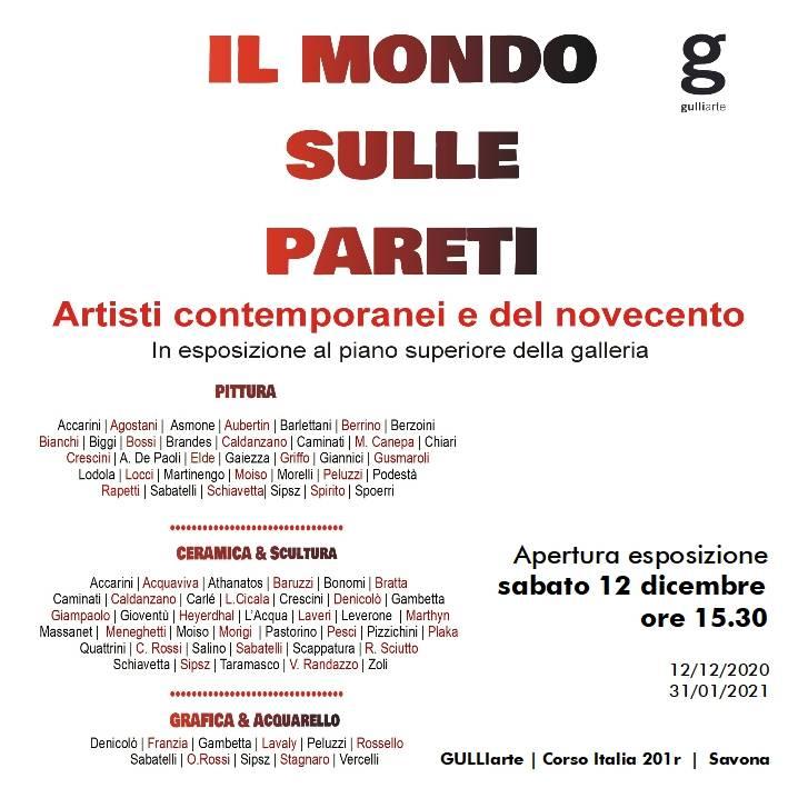 """Savona """"Il mondo sulle pareti"""" mostra natalizia 2020 GulliArte"""