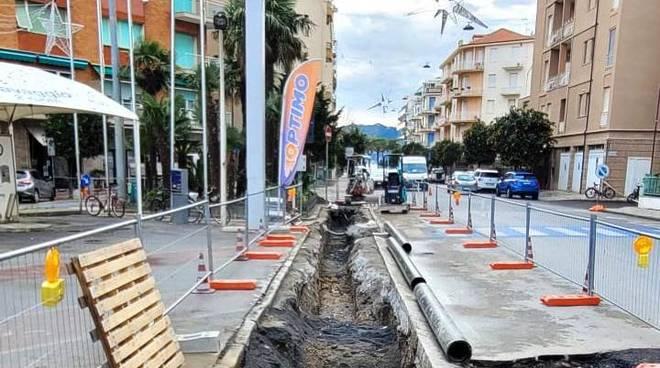 scavo acquedotto alassio