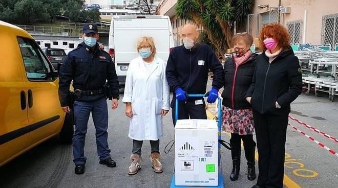 vaccino covid consegna arrivo San Paolo savona