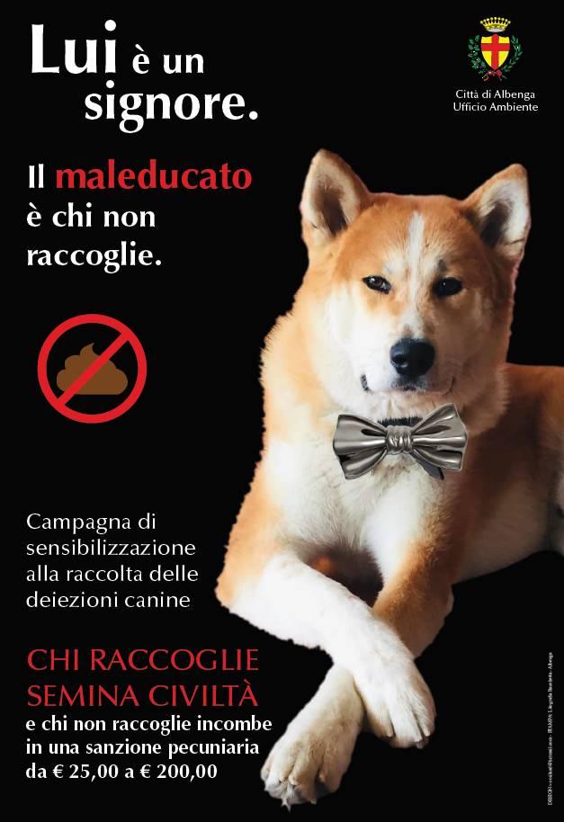 campagna deiezioni canine albenga