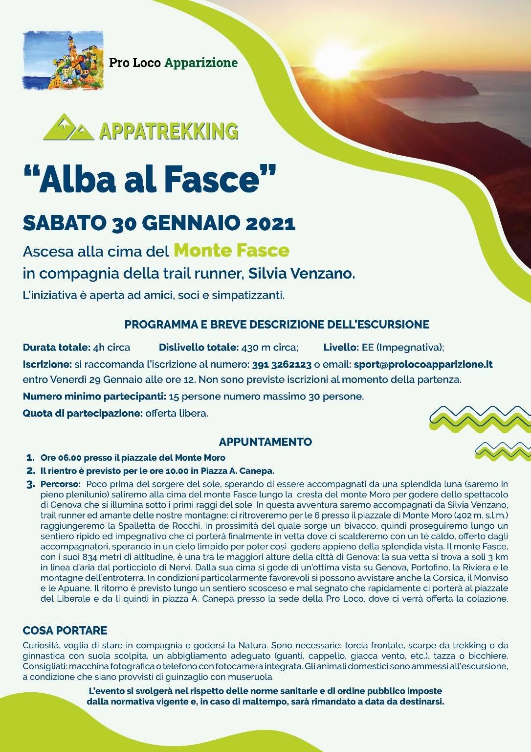 """Genova """"Alba al Fasce"""" escursione Pro Loco Apparizione"""