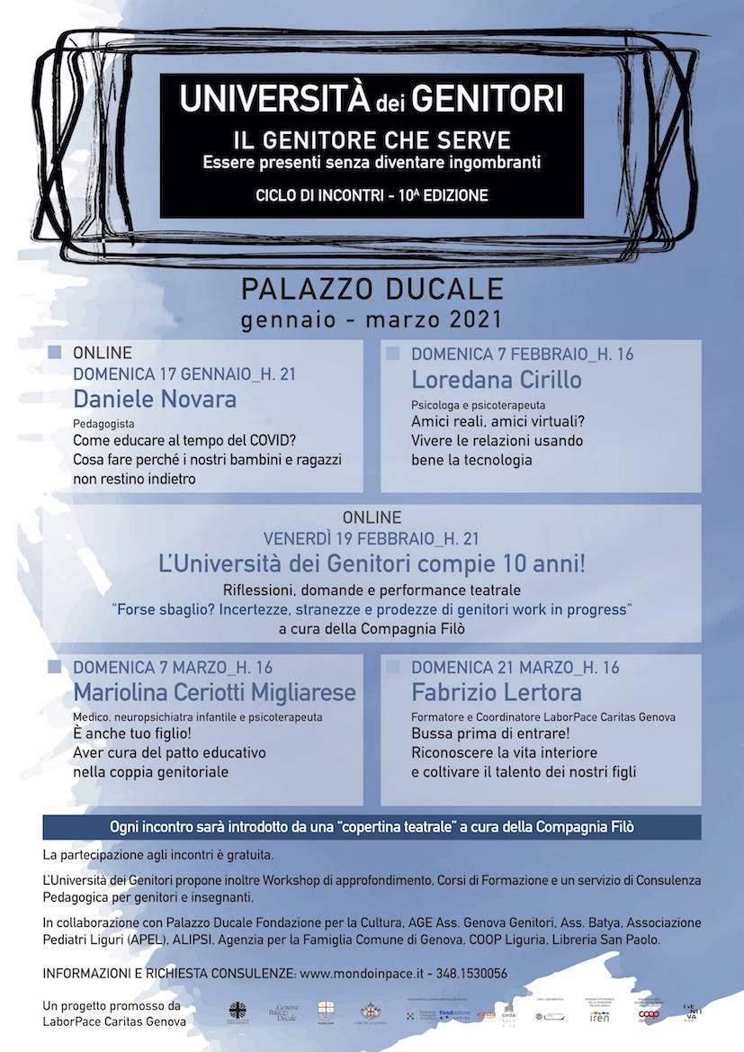 Genova Università dei Genitori 2021 Caritas Diocesana