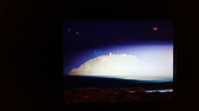 L'isola Gallinara illuminata a giorno