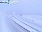 La nevicata 2 gennaio 2021 vista dalle webcam di Limet