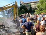 manifestazione contro cemento