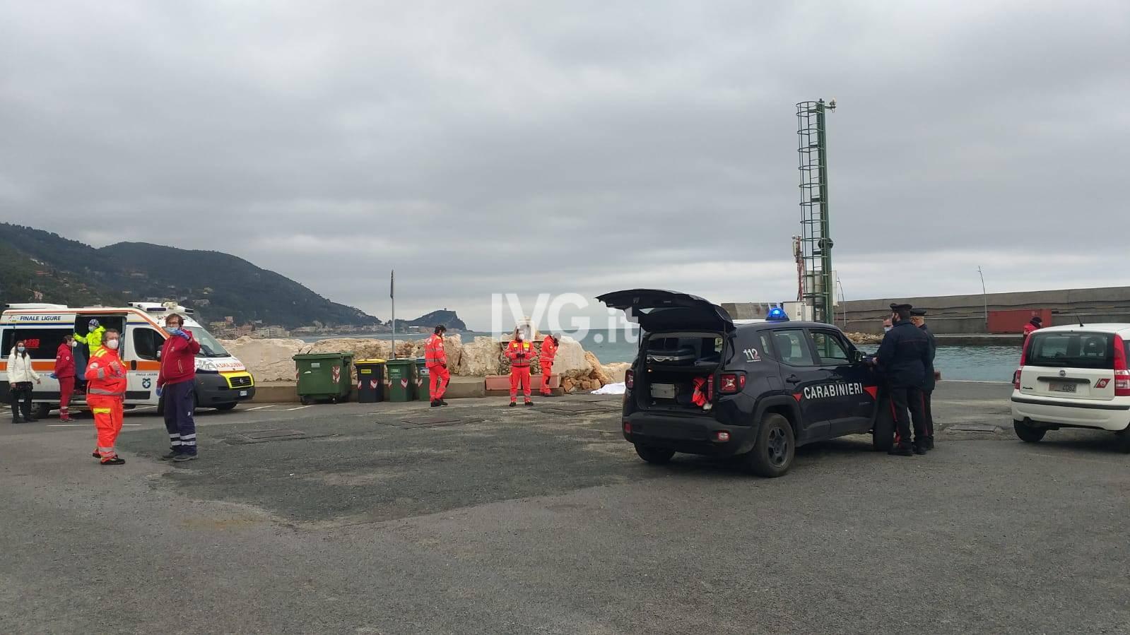 Cadavere in mare a Capo Noli