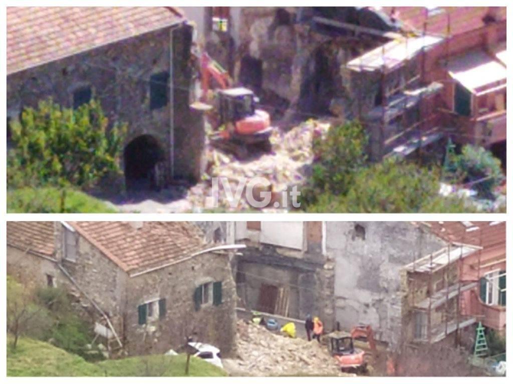 Crollo casa Tovo
