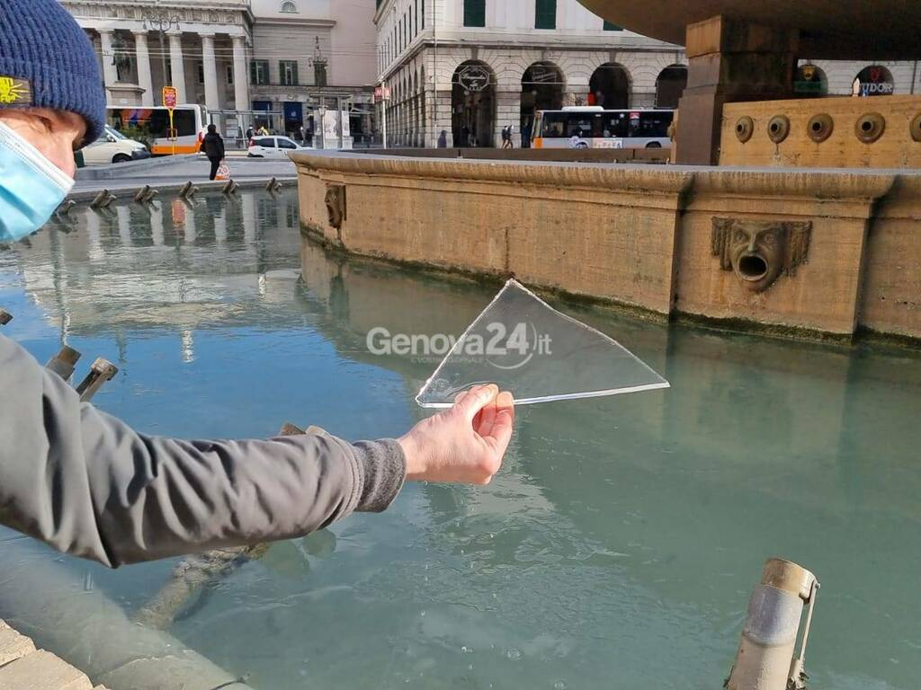 Fontana De Ferrari ghiacciata