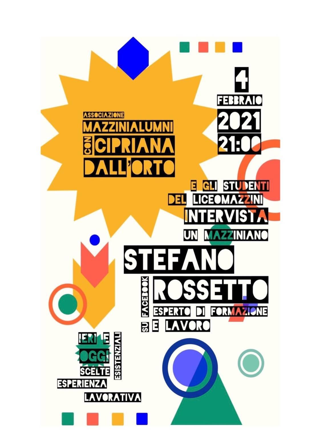 """Genova """"Intervista un Mazziniano"""" Stefano Rossetto febbraio 2021"""