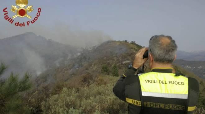 incendio generica vigili del fuoco canadair