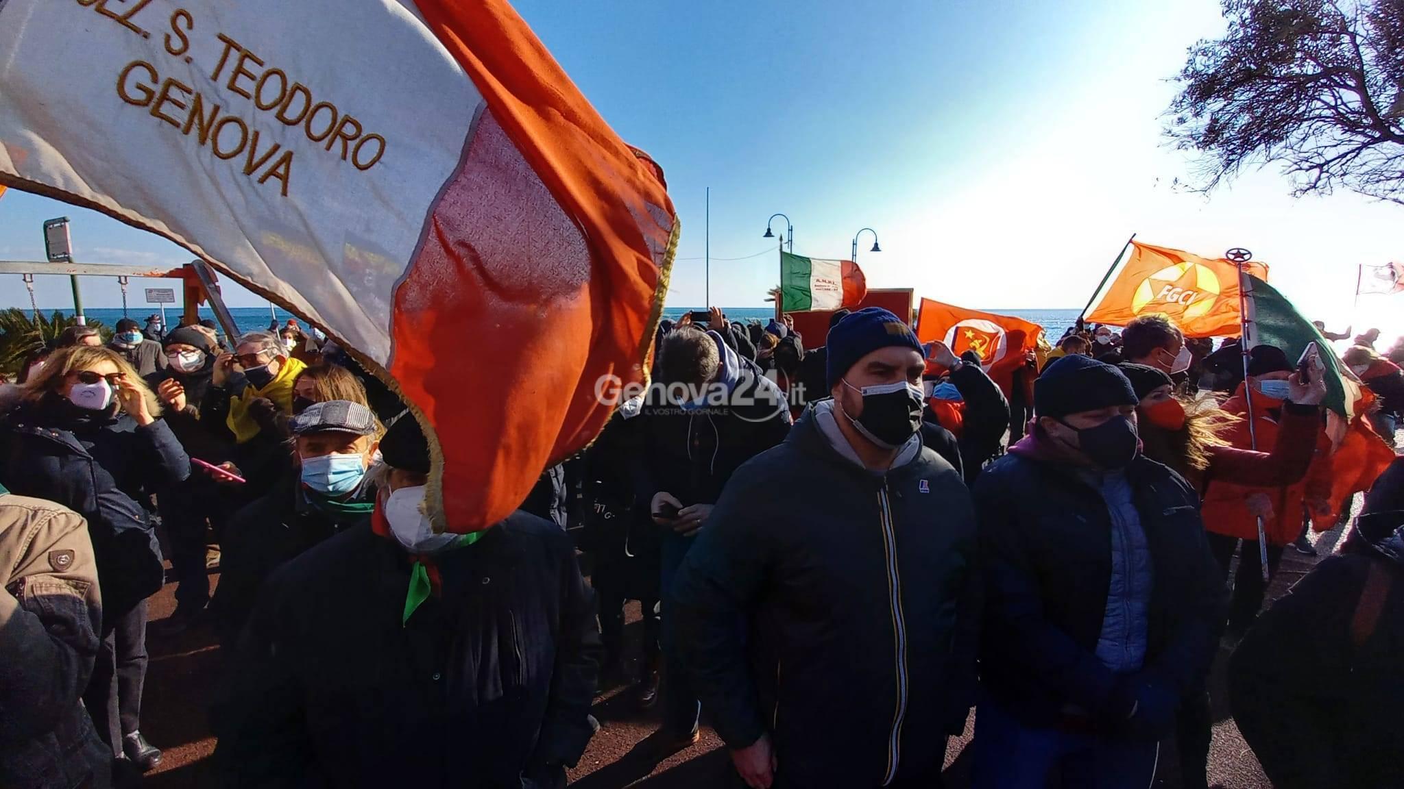 Presidio antifascista a Cogoleto