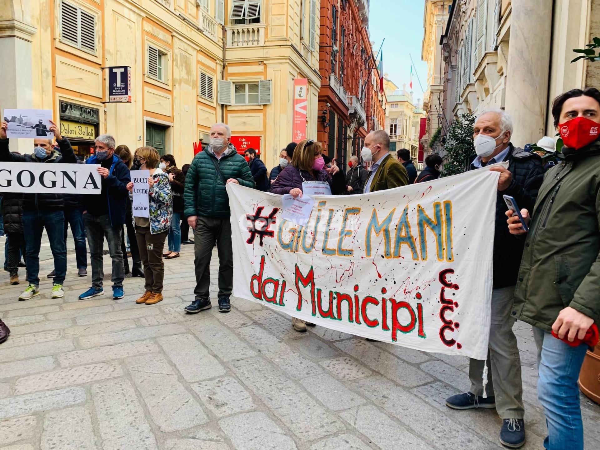 Presidio contro riforma municipi