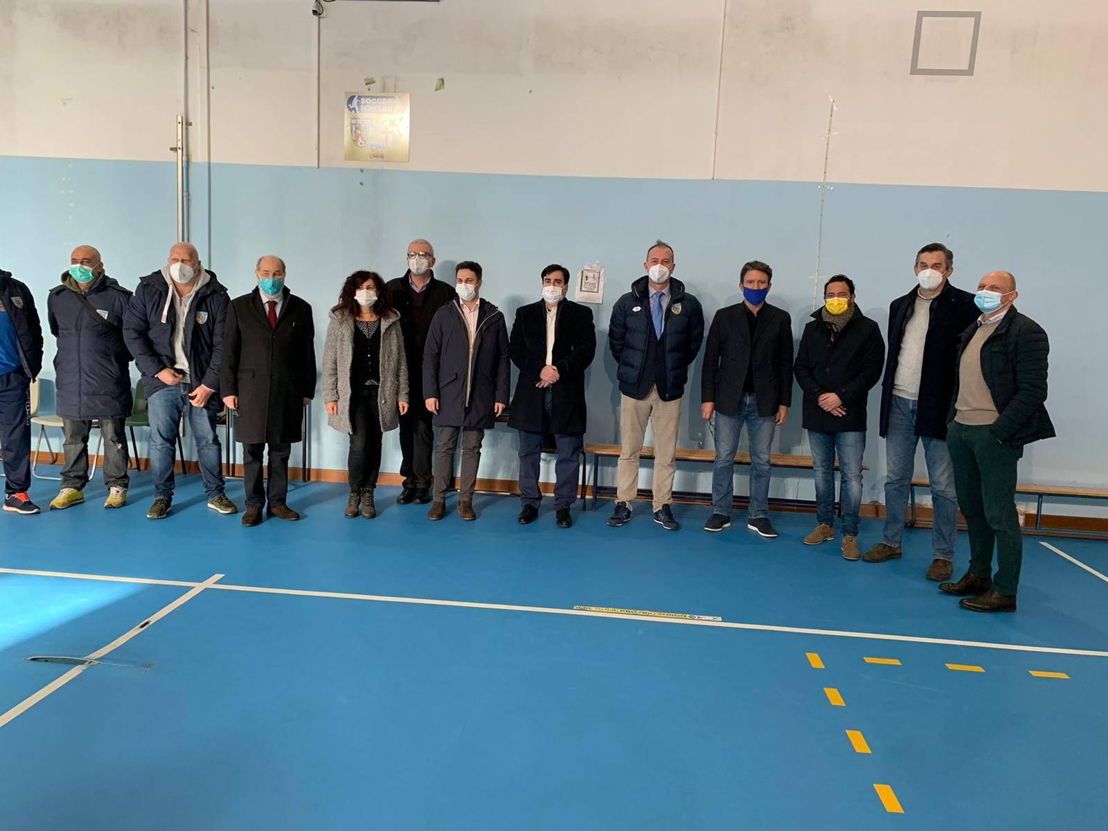 Progetto Soccer School, inaugurata la targa a Campomorone