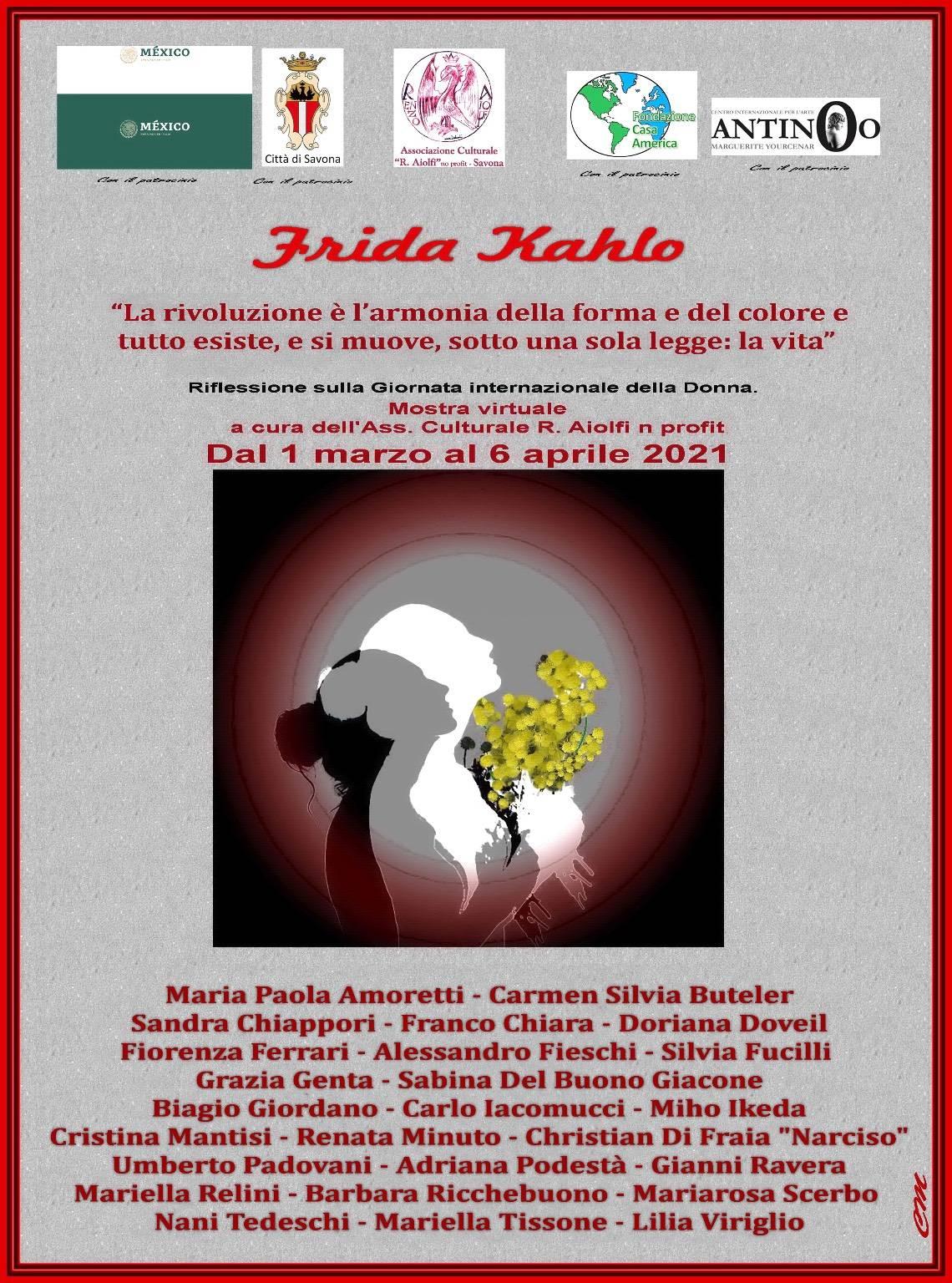 "Savona ""Frida Kahlo"" mostra Associazione Aiolfi Festa della Donna 2021"
