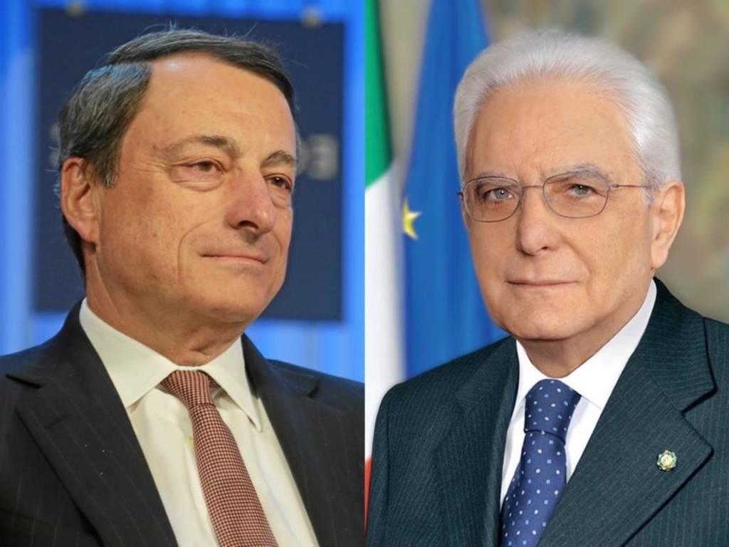 Mario Draghi Sergio Mattarella