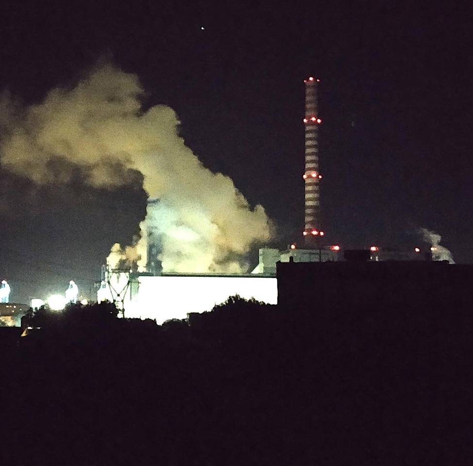 Tirreno Power notte notturna