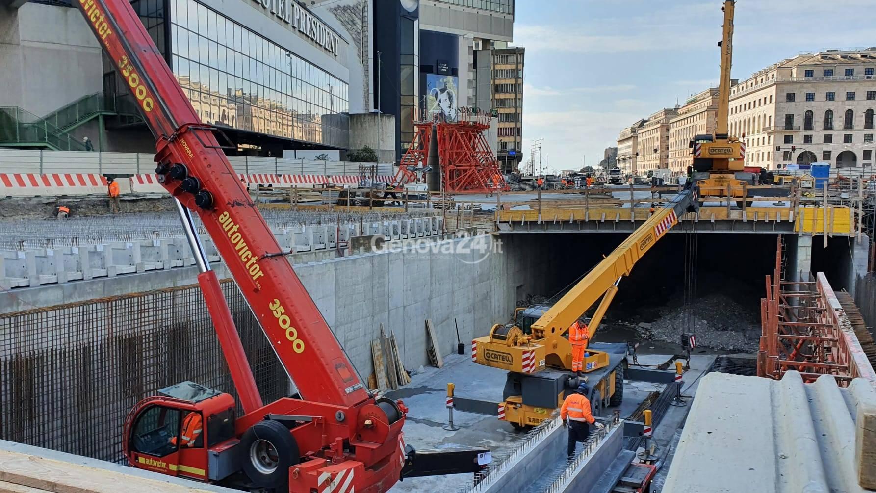 Cantiere copertura del Bisagno, un altro mese di ritardo per la fine dei lavori a Brignole