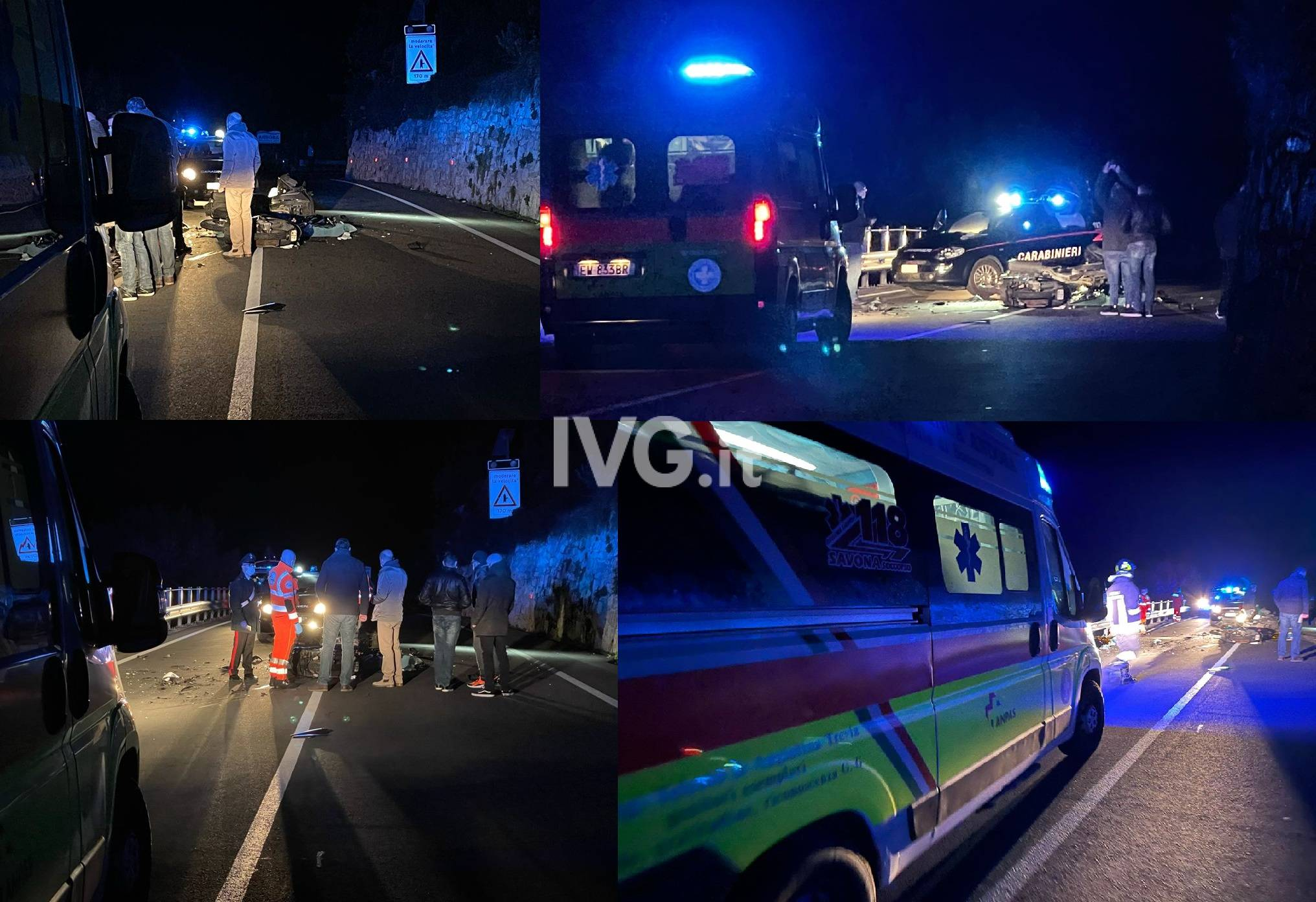 Incidente Mortale Andora Collage
