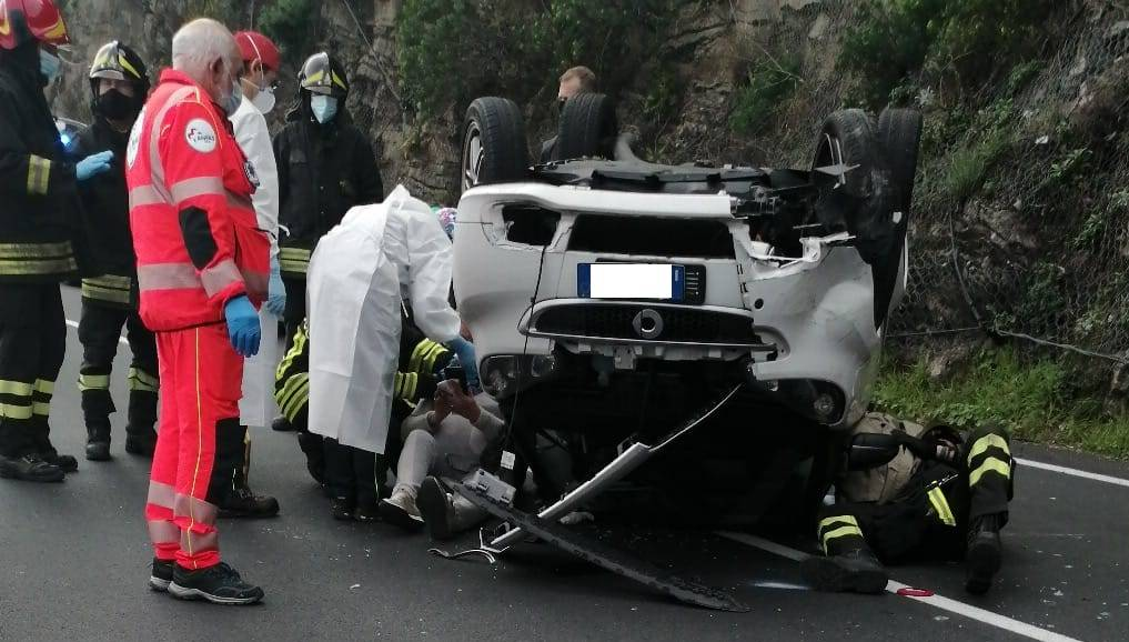 incidente stradale alassio aurelia