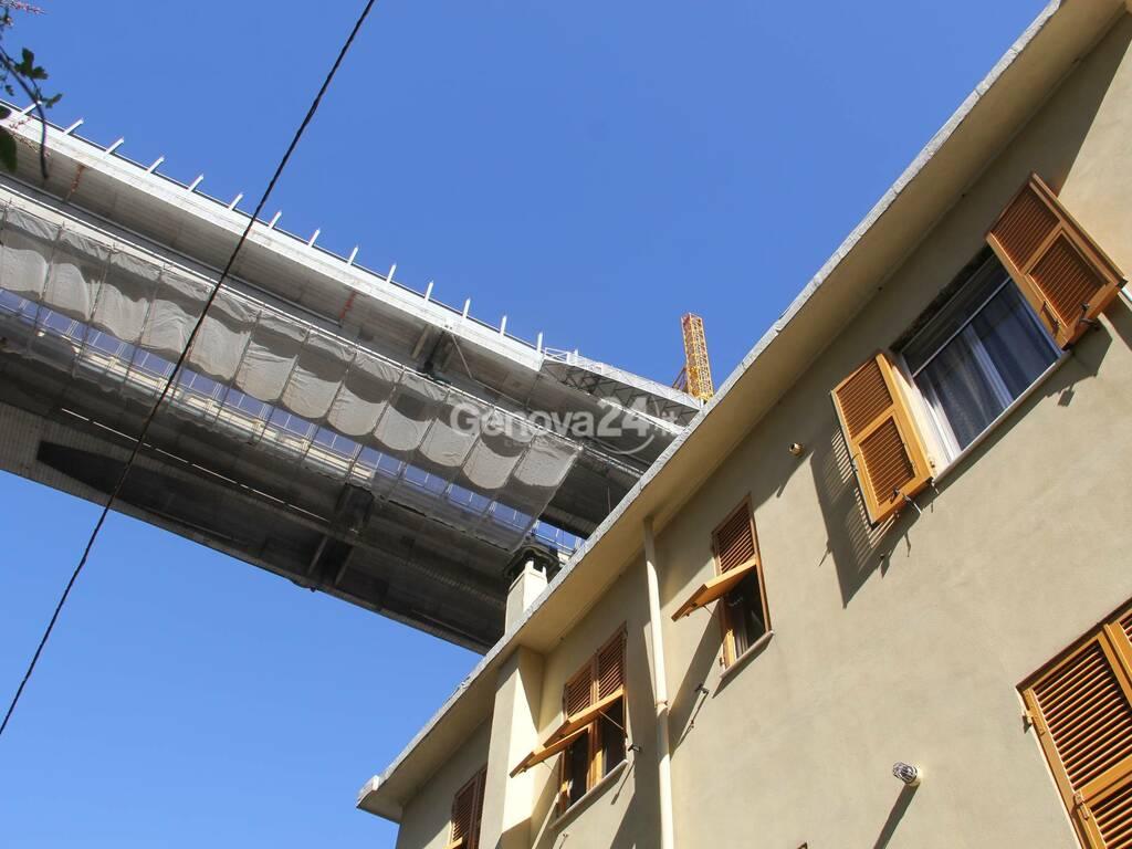 Messa in sicurezza ponteggi cantiere viadotto Bisagno
