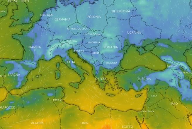 meteo temperature sabato ore 4 ECMWF