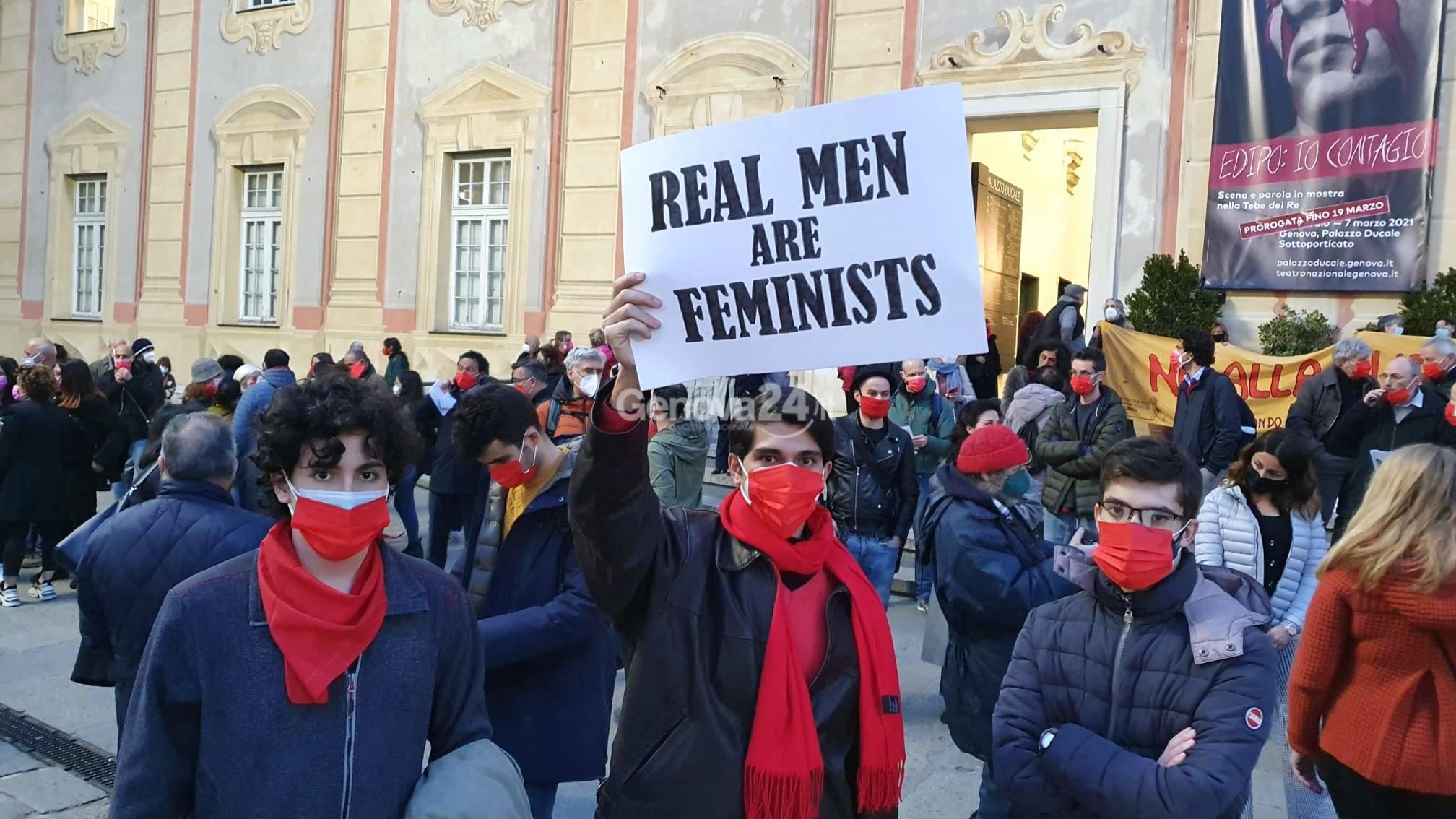 Uomini in piazza contro la violenza sulla donne
