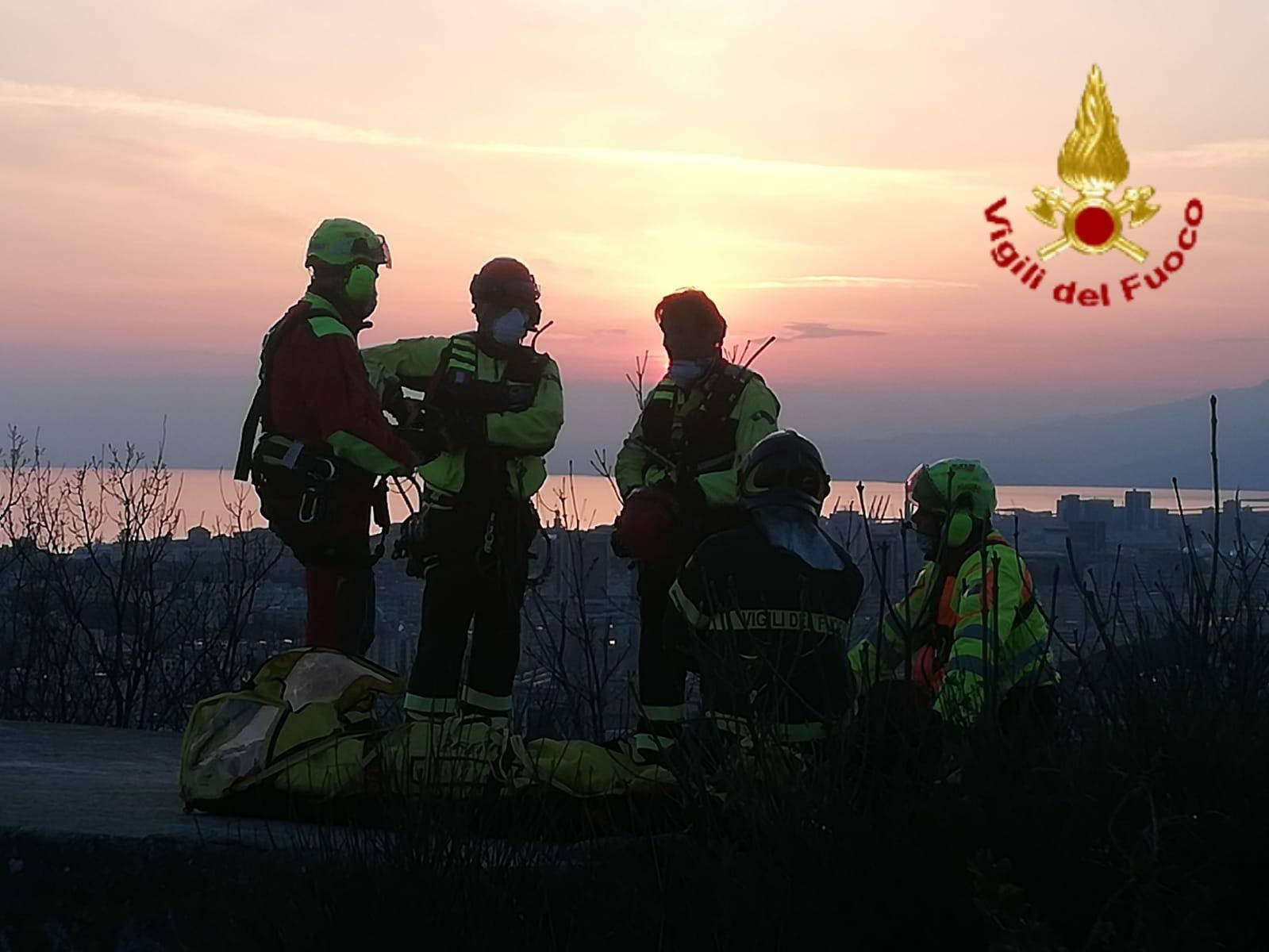 vigili del fuoco elicottero soccorso