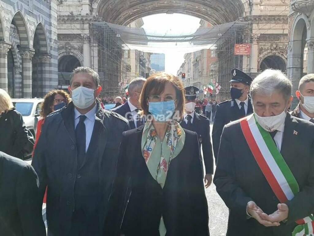 25 aprile 2021, le celebrazioni a Genova