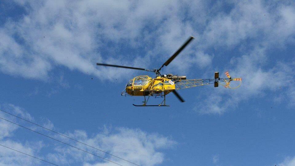 elicottero Enel e-distribuzione