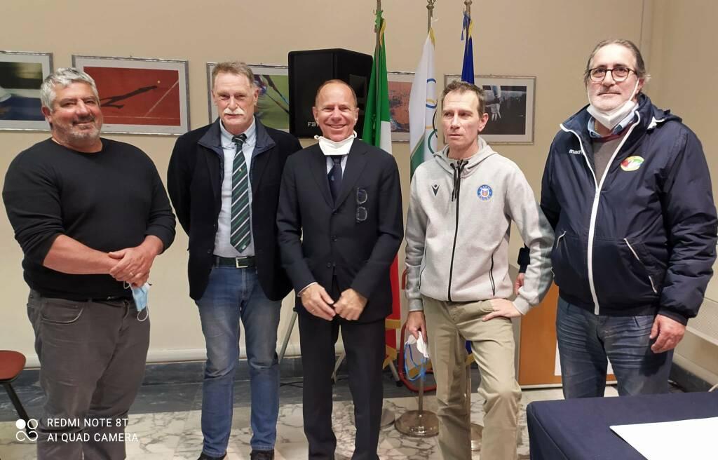 Fabio Paradiso, Roberto Lucchina, Enrico Mantovani, Paolo Barabino e Sergio Migliorini