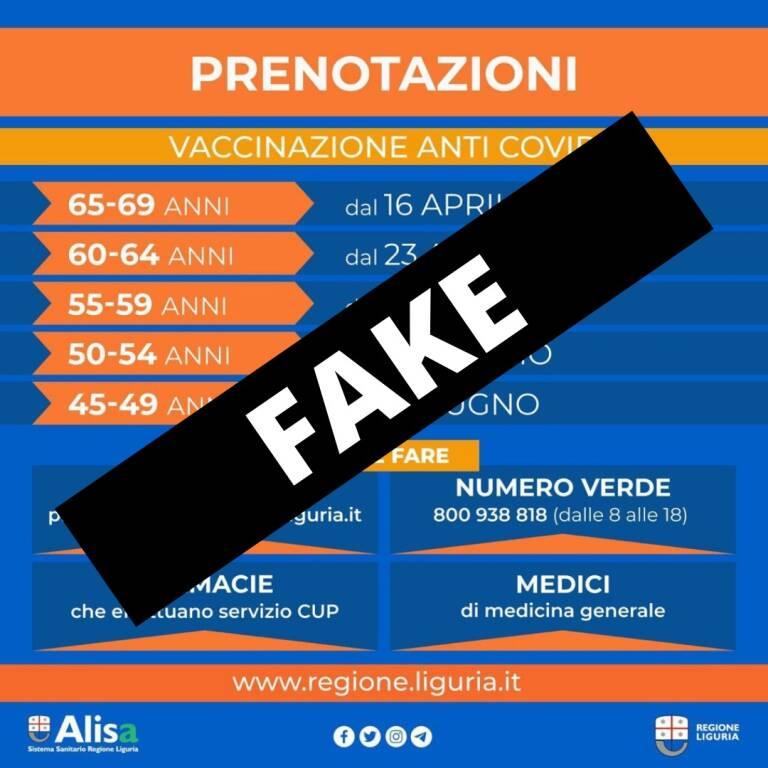 Grafica Fake Campagna Vaccinale Regione