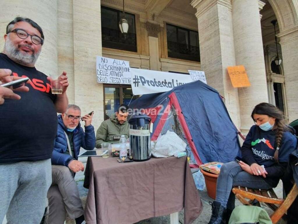 ristoratori tenda protestaligure