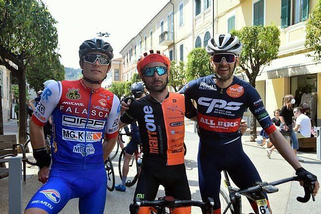 Il podio maschile della Gf Diano Marina (ph Tiziana Veronio)
