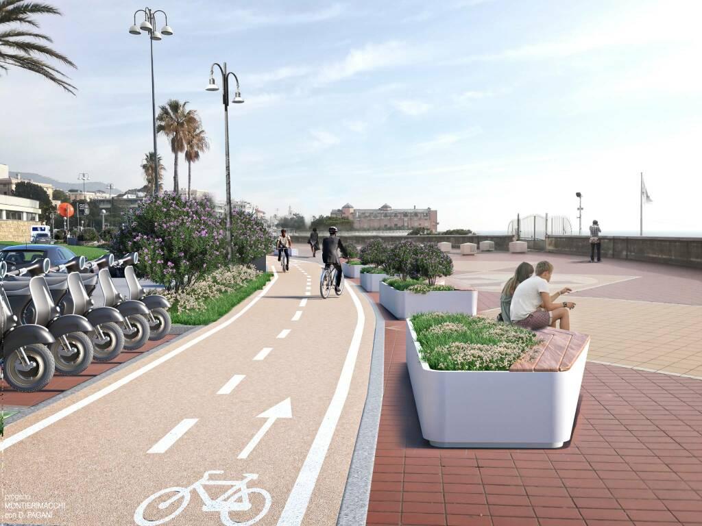 Il progetto della nuova pista ciclabile in corso Italia
