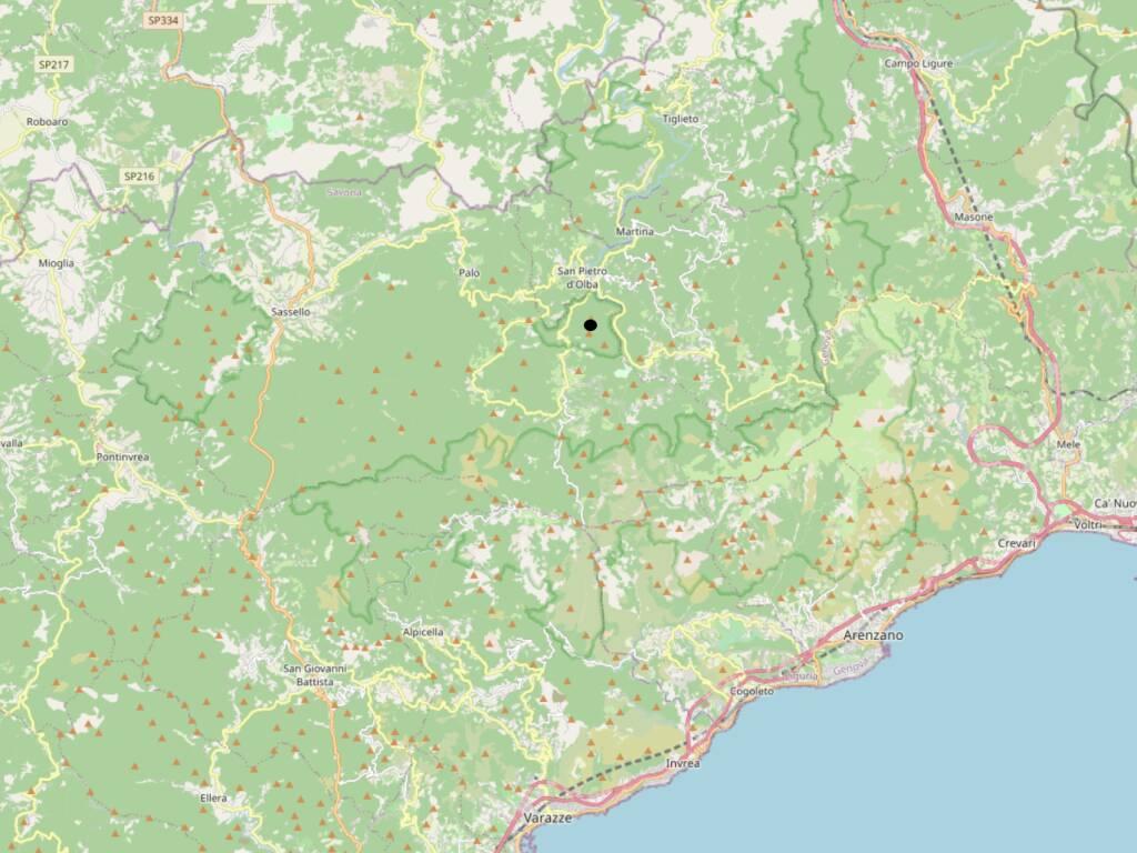 Monte Antenna e Tariné cartina