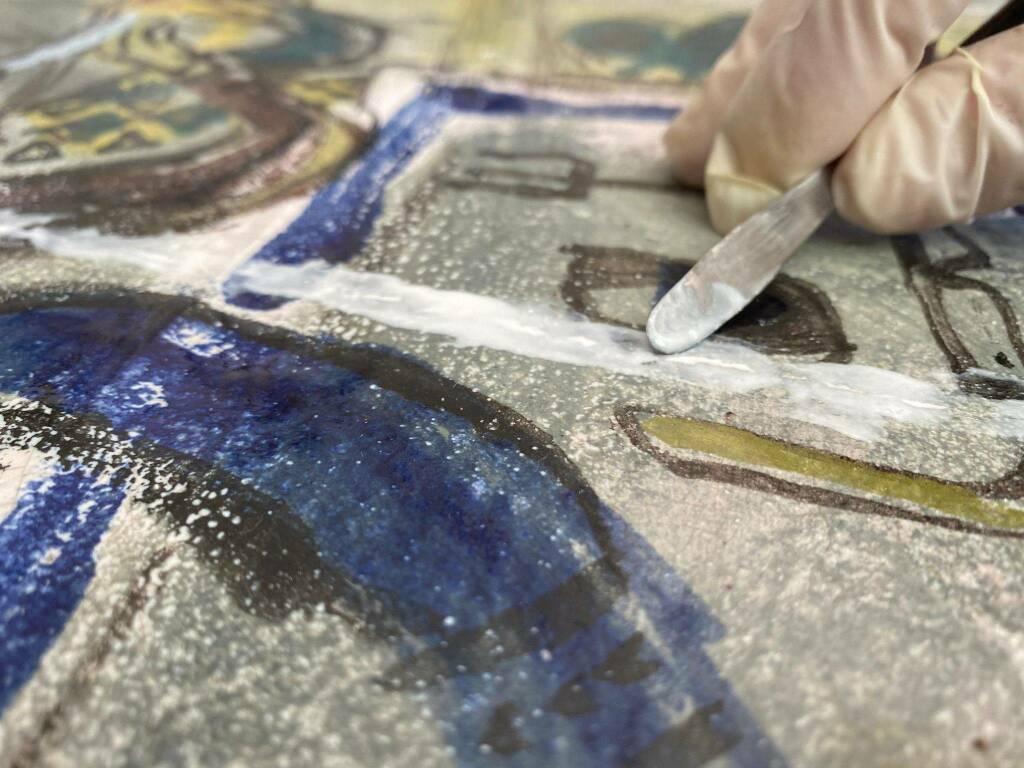 pannello ceramica Luzzati Albisola