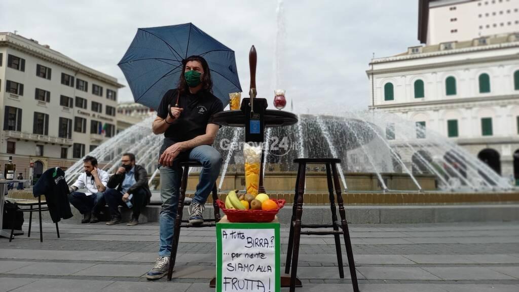 Protesta ristoratori a De Ferrari 26 aprile